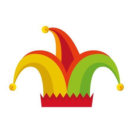 jester hat fools day icon vector illustration design 向量圖像