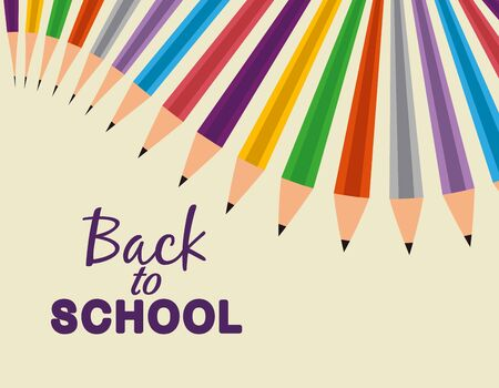 pencils colors education accessories to study and back to school vector illustration vector illustration Çizim