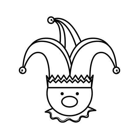 Fools day joker caractère vector illustration design Vecteurs