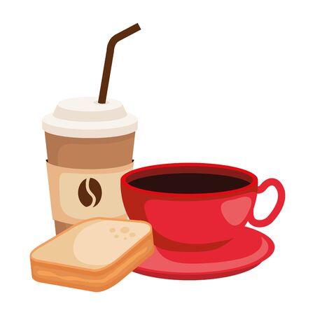delicious breakfast menu icons vector illustration design 写真素材 - 129824187