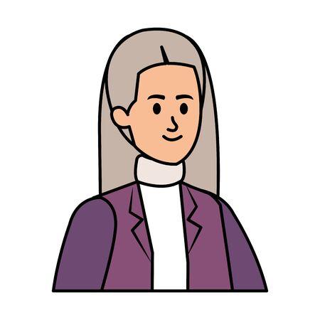 cute grandmother avatar character vector illustration design Foto de archivo - 129824196