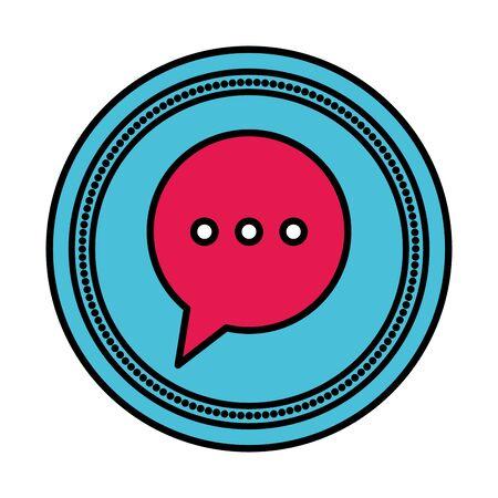 speech bubble message isolated icon vector illustration design Illusztráció