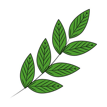 branch with leafs ecology icon vector illustration design Ilustrace