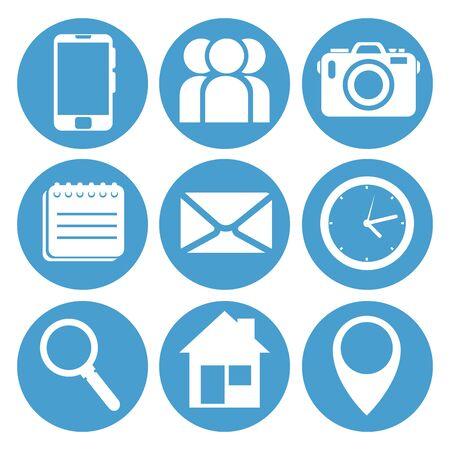 set di illustrazione vettoriale di successo del servizio di processo aziendale Vettoriali