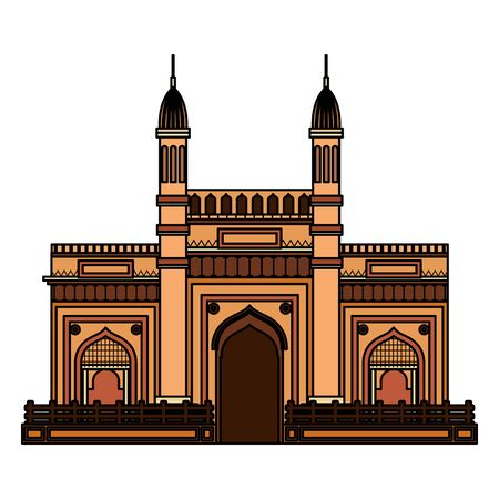 jama masjid famous building icon vector illustration design 矢量图像