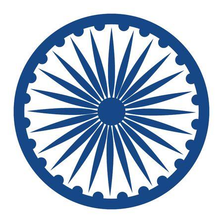 ashoka chakra indian emblem icon vector illustration design Illustration