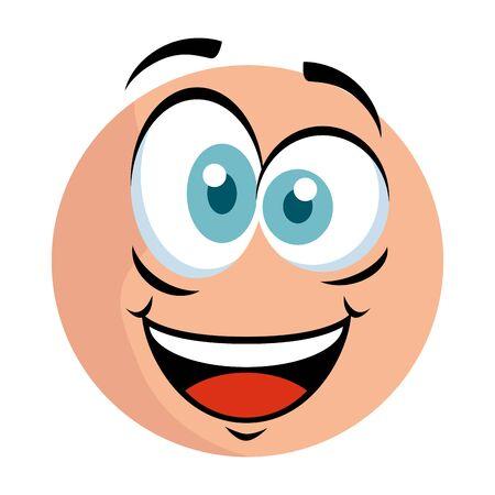 cute emoticon with crazy face vector illustration design Banco de Imagens - 129824633