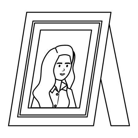 portrait with elegant businesswoman vector illustration design Illustration