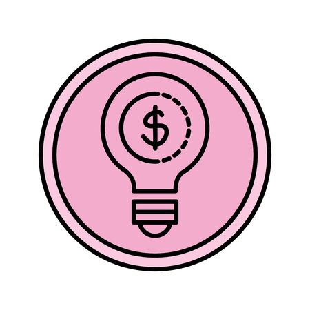 bulb with coin money vector illustration design