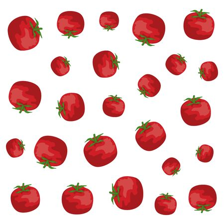 tomatoes fresh vegetables healthy pattern vector illustration design Ilustrace