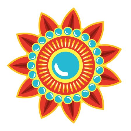 decoratief mandala etnisch boho-stijl vectorillustratieontwerp
