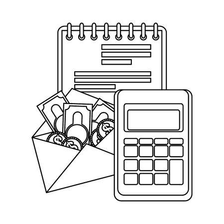 tax day business icons vector illustartion design Ilustracja