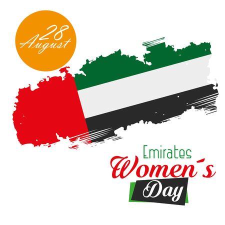 national traditional emirates flag patriotic over white background, vector illustration Ilustração