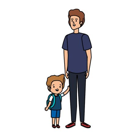 young father with son characters vector illustration design Stock fotó - 129814163