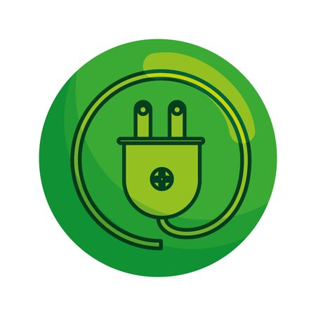 energy plug ecology icon vector illustration design Stock fotó - 129814137