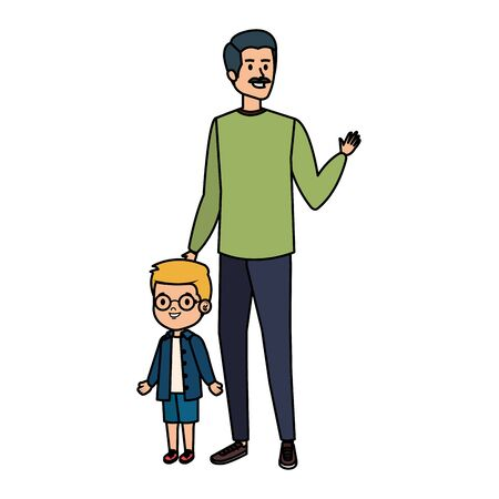 young father with son characters vector illustration design Stock fotó - 129814566
