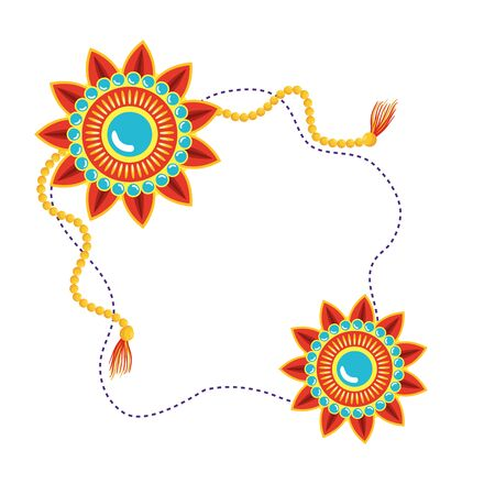decorative set of mandalas frame boho style vector illustration design Vector Illustratie
