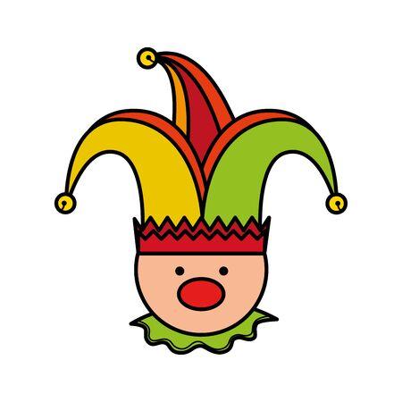 fools day joker character vector illustration design Reklamní fotografie - 129825327