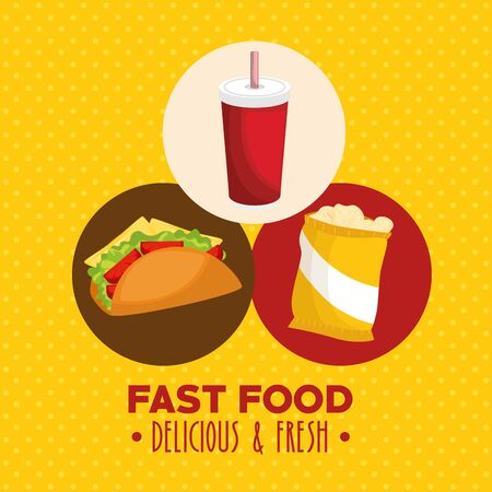 cinema fast food combo vector illustration graphic design Illustration