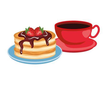 delicious breakfast menu icons vector illustration design Иллюстрация