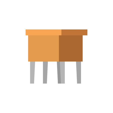 wooden bench forniture isolated icon vector illustration design Иллюстрация