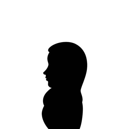 silhouette of islamic woman with traditional burka vector illustration design Illustration