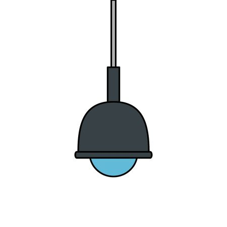 lamp light hanging isolated icon vector illustration design Ilustração