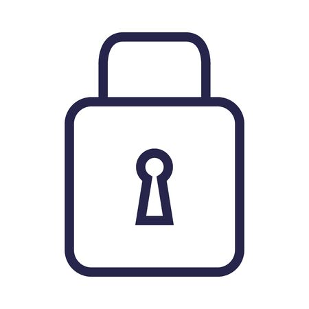 safe secure padlock isolated icon vector illustration design Stock fotó - 129825621