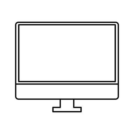 desktop computer electronic device icon vector illustration design