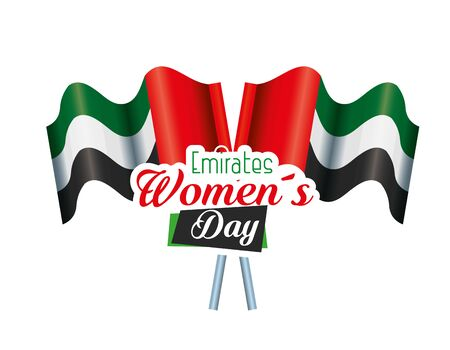 national flags to traditional pemirates womens day over white background, vector illustration Ilustração