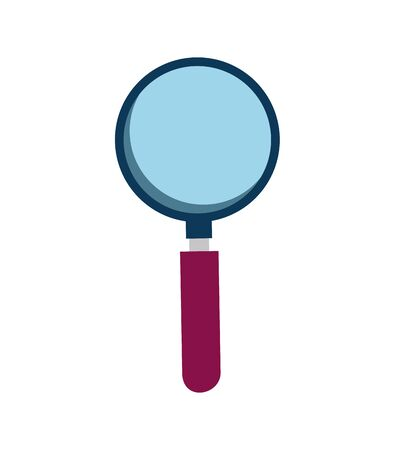 search magnifying glass isolated icon vector illustration design Stock Illustratie