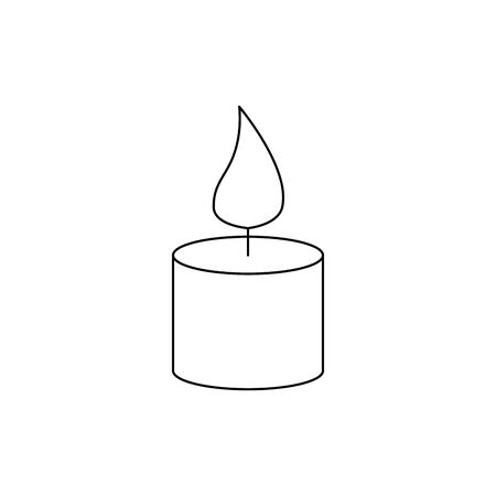 paraffin candle with flame icon vector illustration design Фото со стока - 129825694