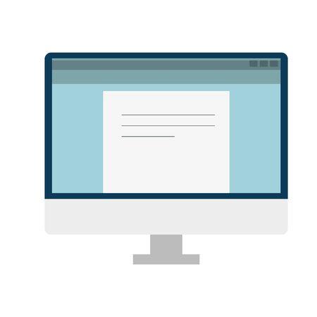 computer desktop dispositivo portatile icona illustrazione vettoriale design