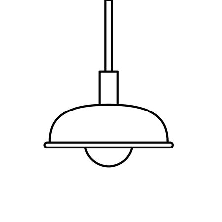 lamp light hanging isolated icon vector illustration design Illustration