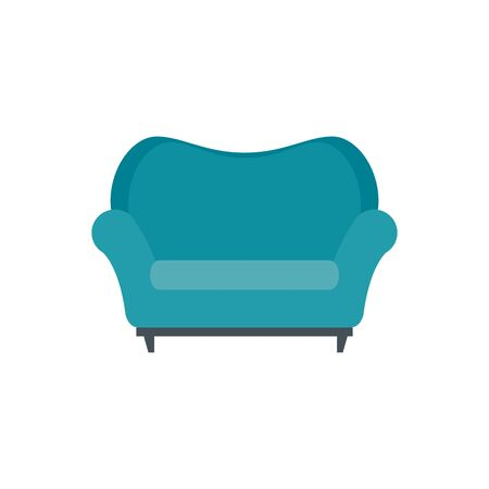 confortable sofa livingroom equipment icon vector illustration design  イラスト・ベクター素材