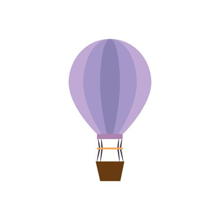 balloon air hot flying icon vector illustration design Banque d'images - 129826112