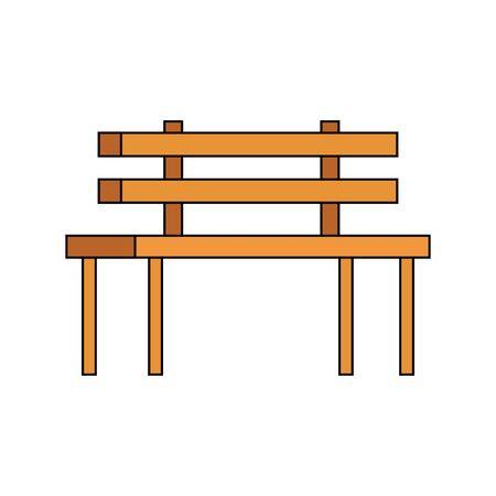 wooden park chair classic icon vector illustration design
