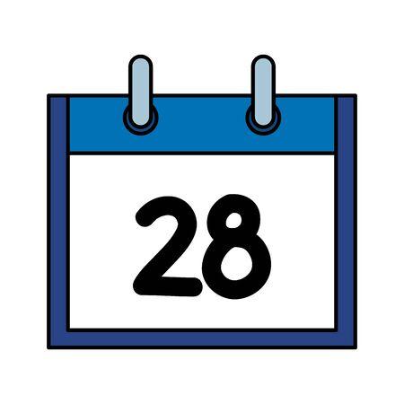 calendar reminder date isolated icon vector illustration design Stok Fotoğraf - 129829806