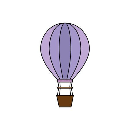 balloon air hot flying icon vector illustration design Фото со стока - 129880312