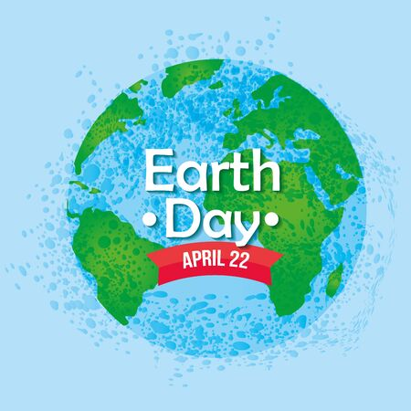 planet conservation protect to earth day vector illustration