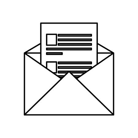envelope mail post isolated icon vector illustration design 일러스트