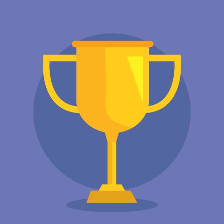 proze cup competition and winner symbol to office strategy vector illustration