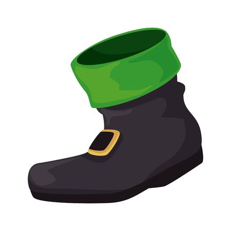 leprechaun boots saint patrick day vector illustration design