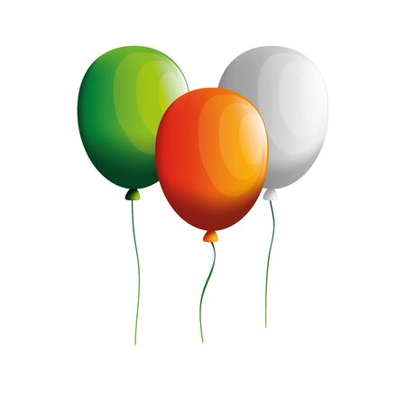 ireland flag balloons helium floating vector illustration design Ilustração