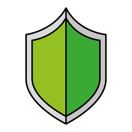 security shield guard isolated icon vector illustration design Ilustração