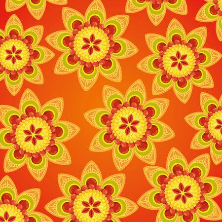 hindu flowers tradition decoration background to event celebration, vector illustration Ilustrace