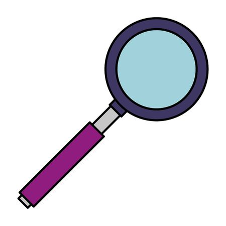 search magnifying glass isolated icon vector illustration design Ilustracja