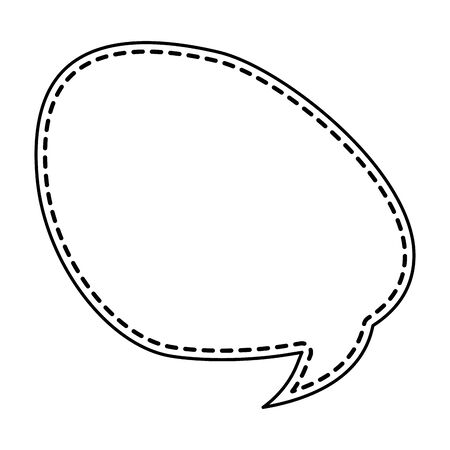 cute speech bubble message icon vector illustration design  イラスト・ベクター素材