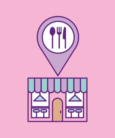 Restaurant place design, Food menu dinner lunch cooking meal and tasty theme Vector illustration