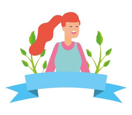 gardener woman plants work gardening design vector illustration  イラスト・ベクター素材